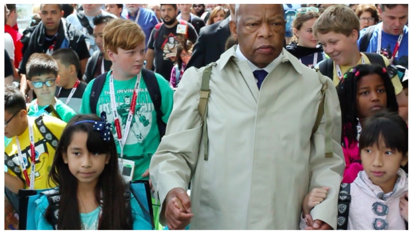 How Rep. John Lewis's masterful graphic-novel memoir and civil-rights trilogy ''March' was a shining torch handed to the next generation