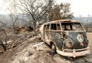 California wildfires rage; dry lightning; weather cooperates