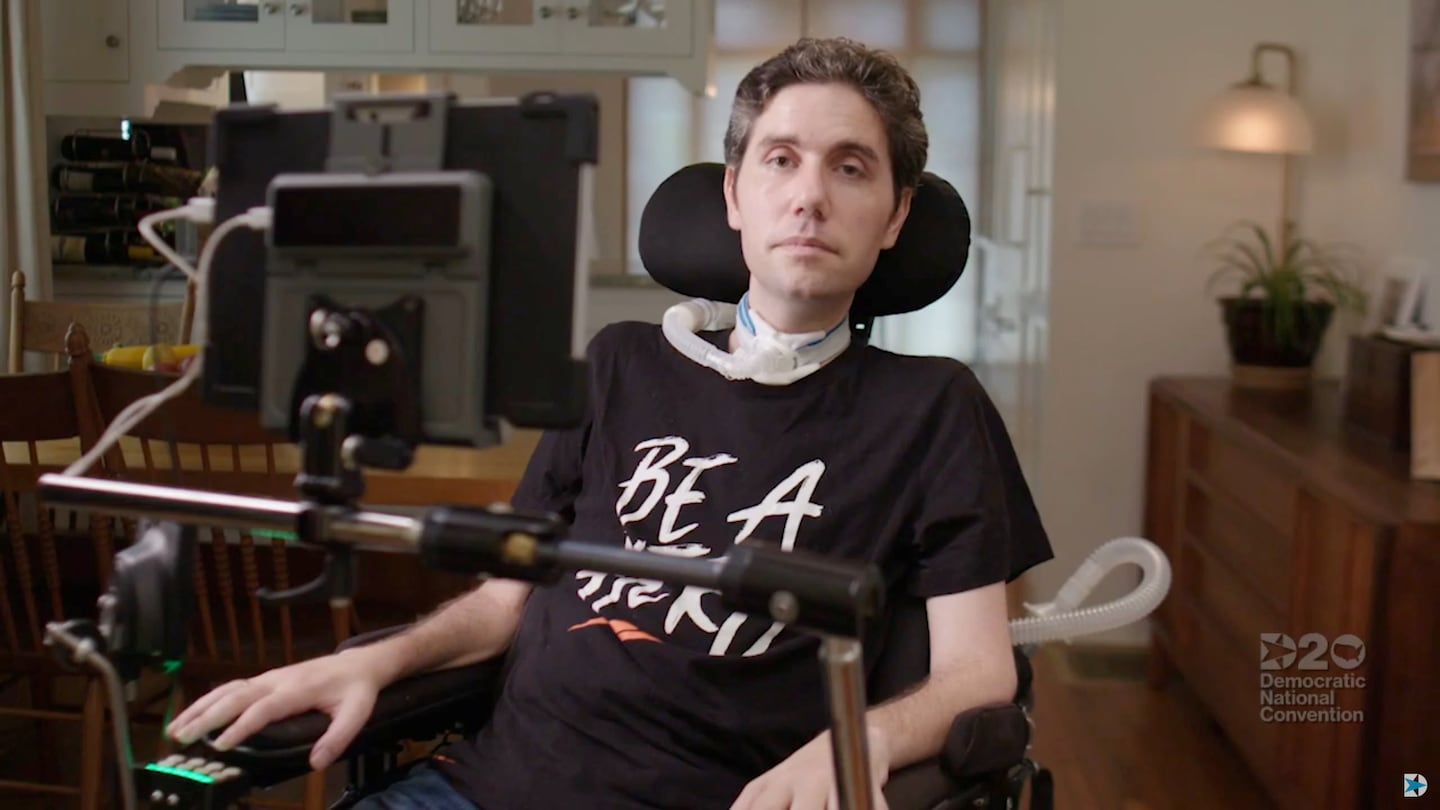 Democratic National Convention Night 2: Ady Barkan is the face of America's health care crisis