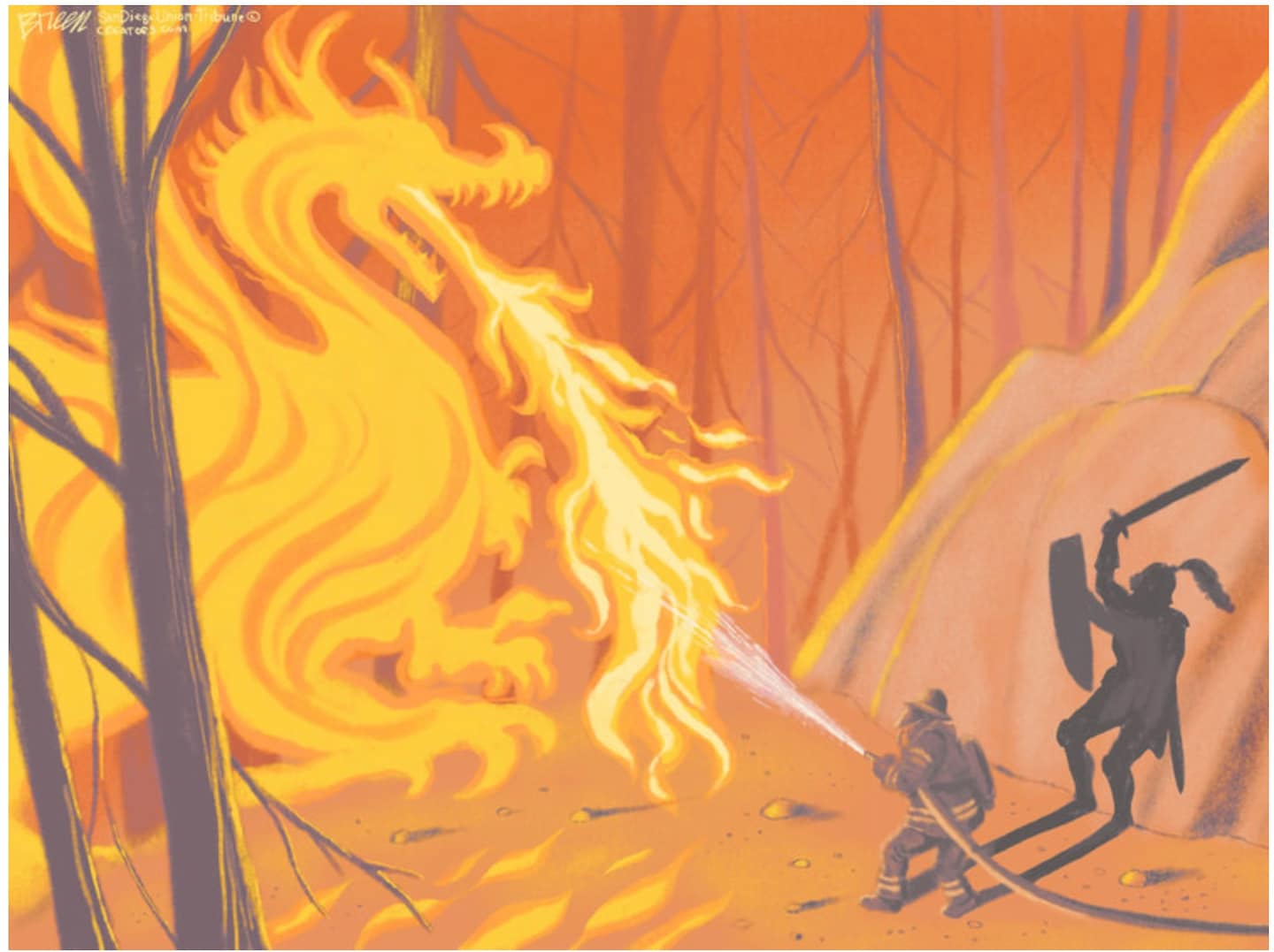 How West Coast cartoonists deliver powerful art from the wildfires
