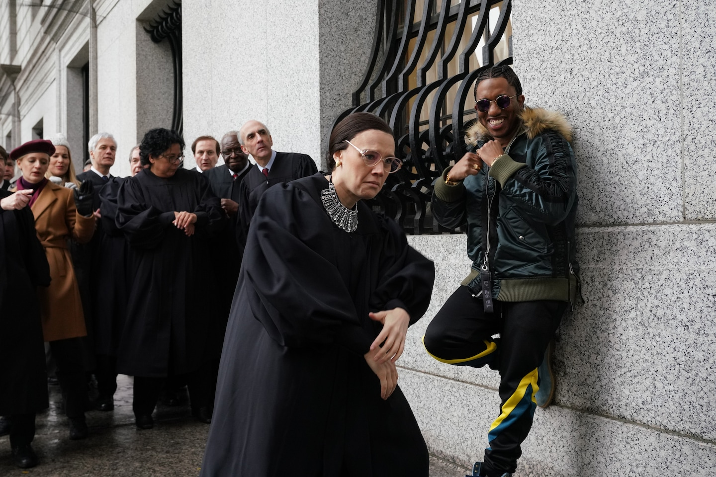 SNL rides for Ruth Bader Ginsburg in a new rap video, with Kate McKinnon in a blinged-out collar