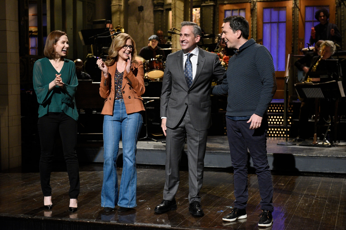 Steve Carell's 'Saturday Night Live' monologue turned into a mini 'Office' reunion
