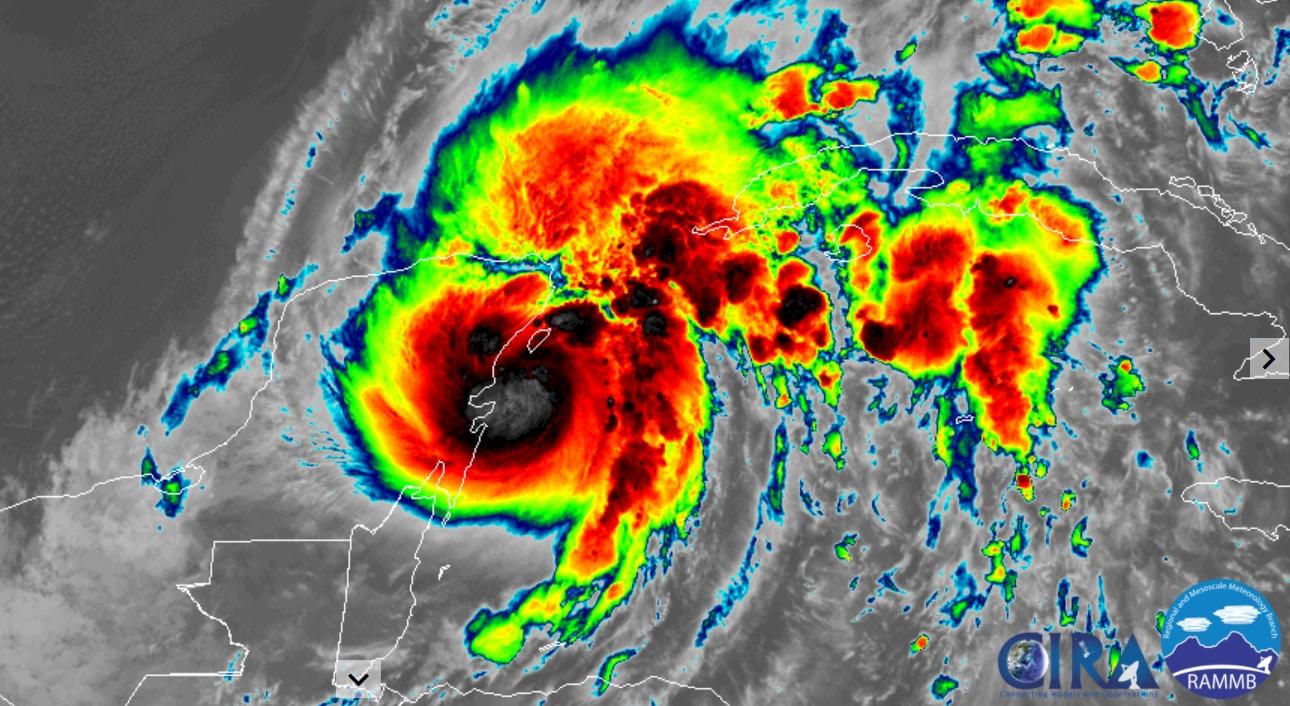 Tropical Storm Gamma develops, lashing Yucatan Peninsula