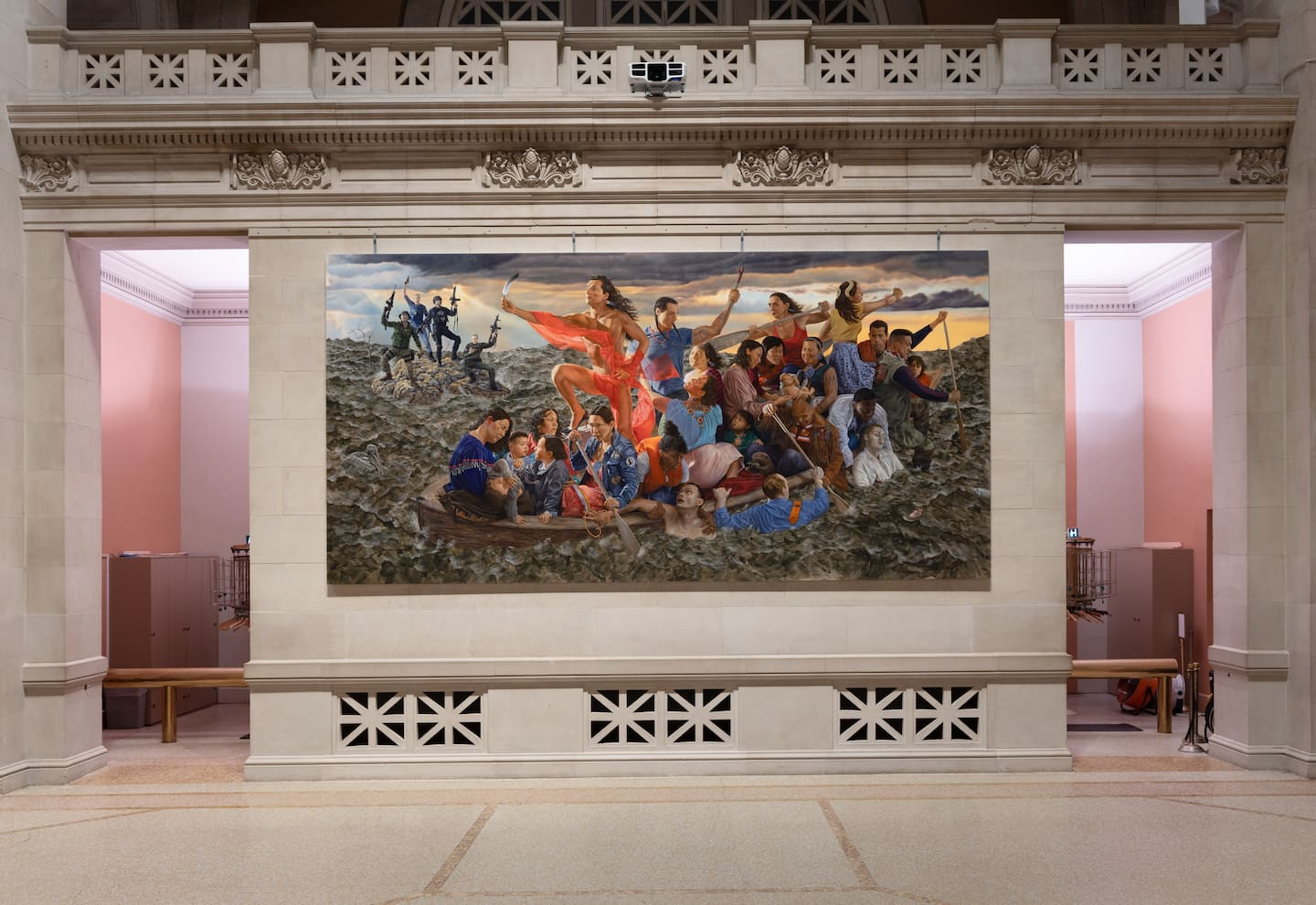 Grand history painting and landscapes reemerge to chart the collapse of America
