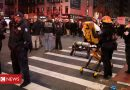 Black Lives Matter: Driver charged after crashing into New York protest