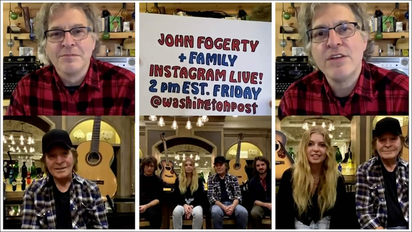 Q&A with John Fogerty (and kids): Missing the stage and how he got sued for sounding too much like himself