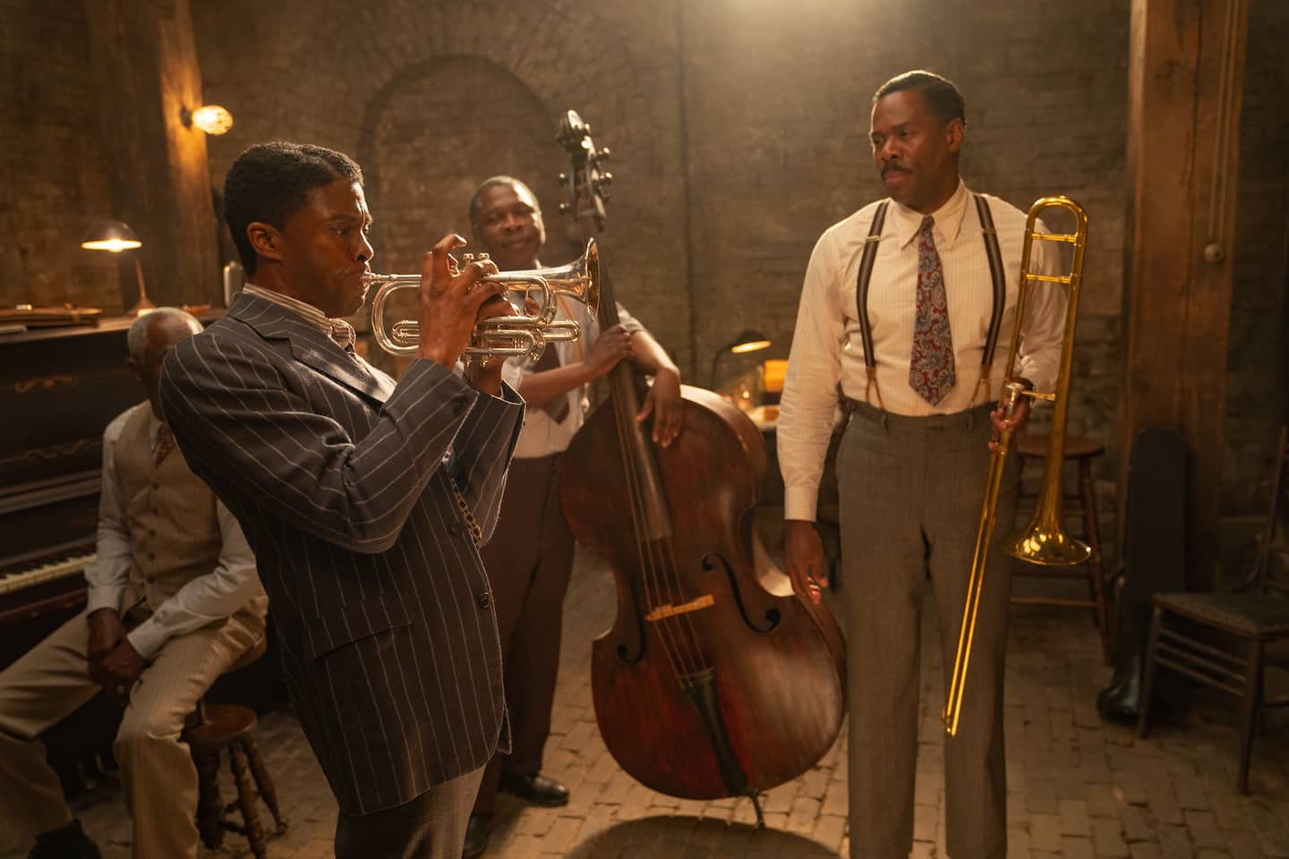 Working with Chadwick Boseman on 'Ma Rainey's Black Bottom' taught Colman Domingo to treat each role 'as the last one'