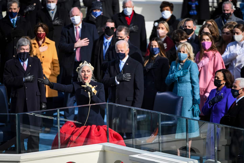 Lady Gaga sings the national anthem at Biden?s inauguration