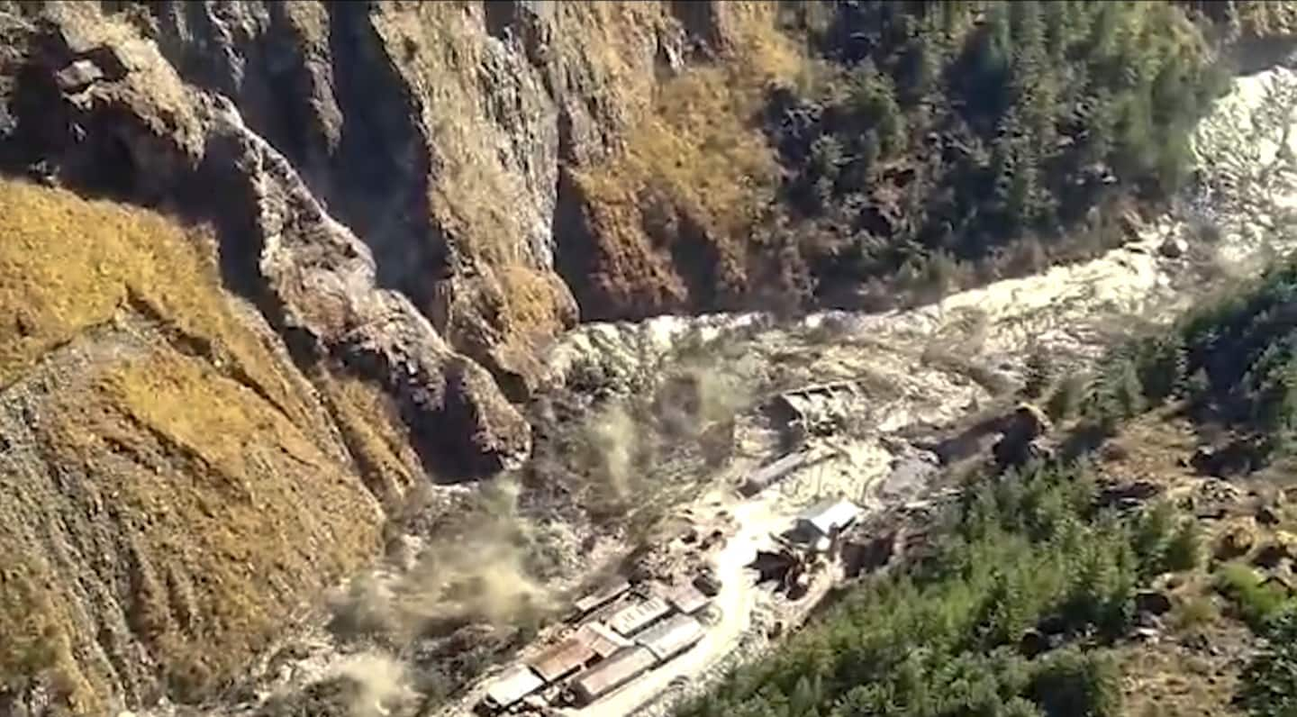 Glacier fractures in the Himalayas, causing deadly flood; more than 125 missing