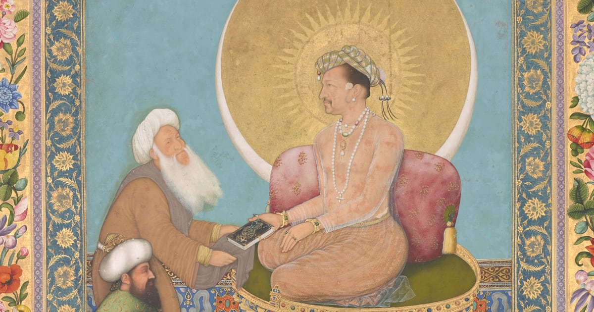 A Mughal masterpiece by Bichitr in the Freer Gallery of Art trumpets spiritual values over worldly ones