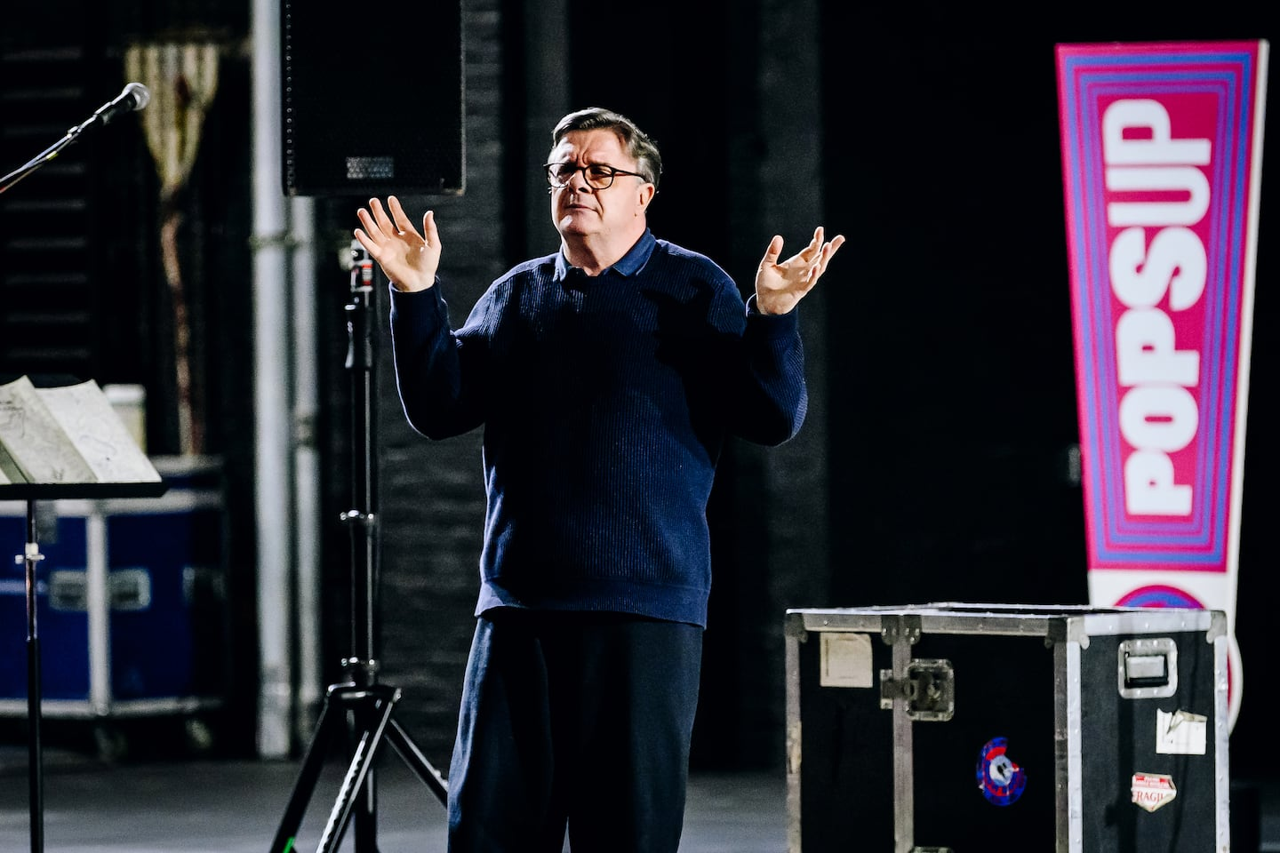 For the first time in almost 13 months, a Broadway theater features a live event ? with Nathan Lane and Savion Glover