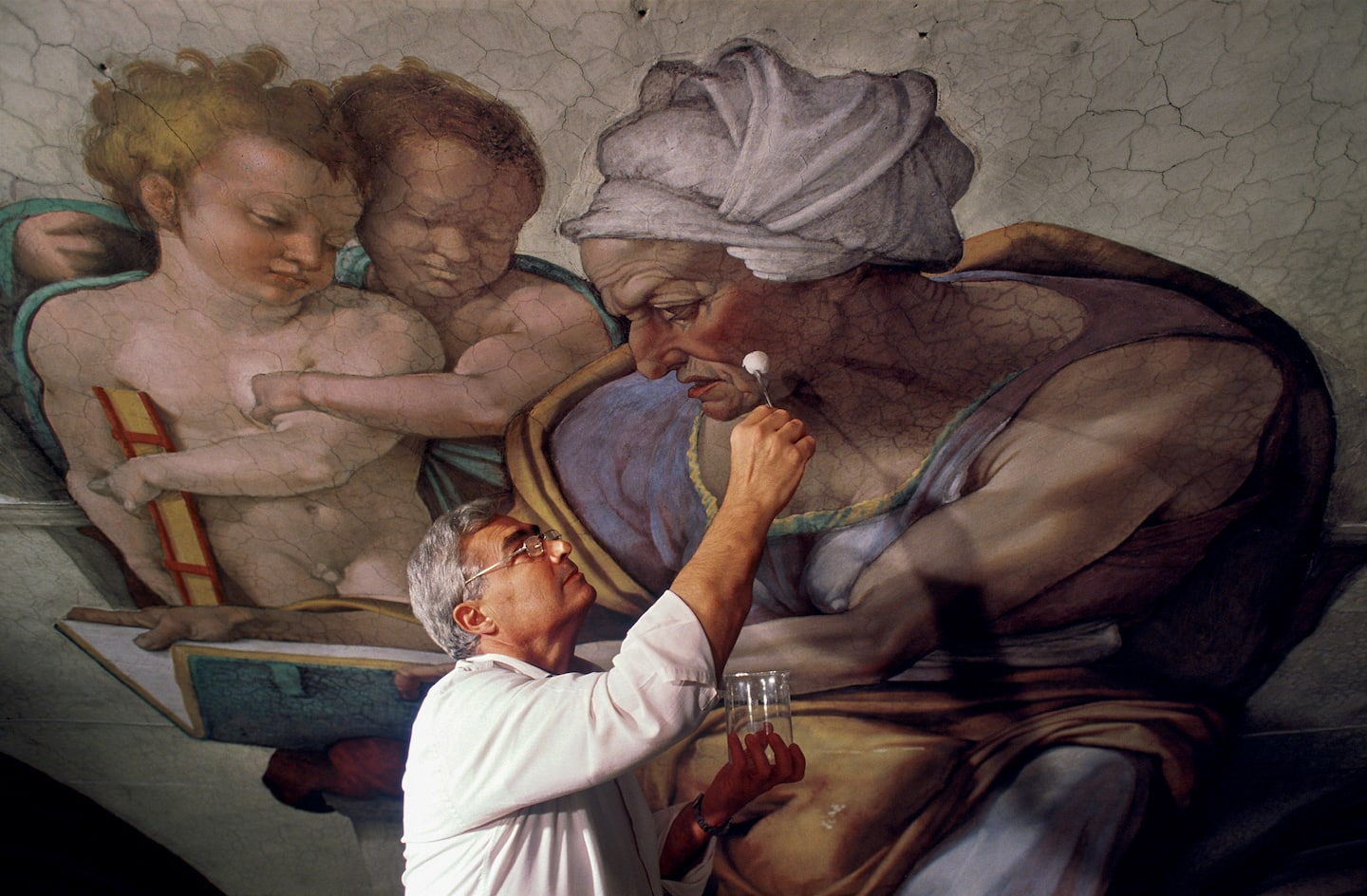 Gianluigi Colalucci dies at 91; Vatican conservator led restoration of Michelangelo's Sistine Chapel