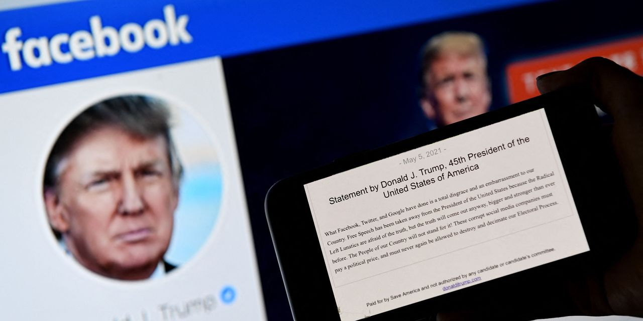 Facebook Keeps Banning Trump – WSJ
