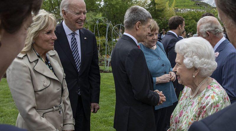 Joe Biden Meets Queen Elizabeth II At G7 Conference