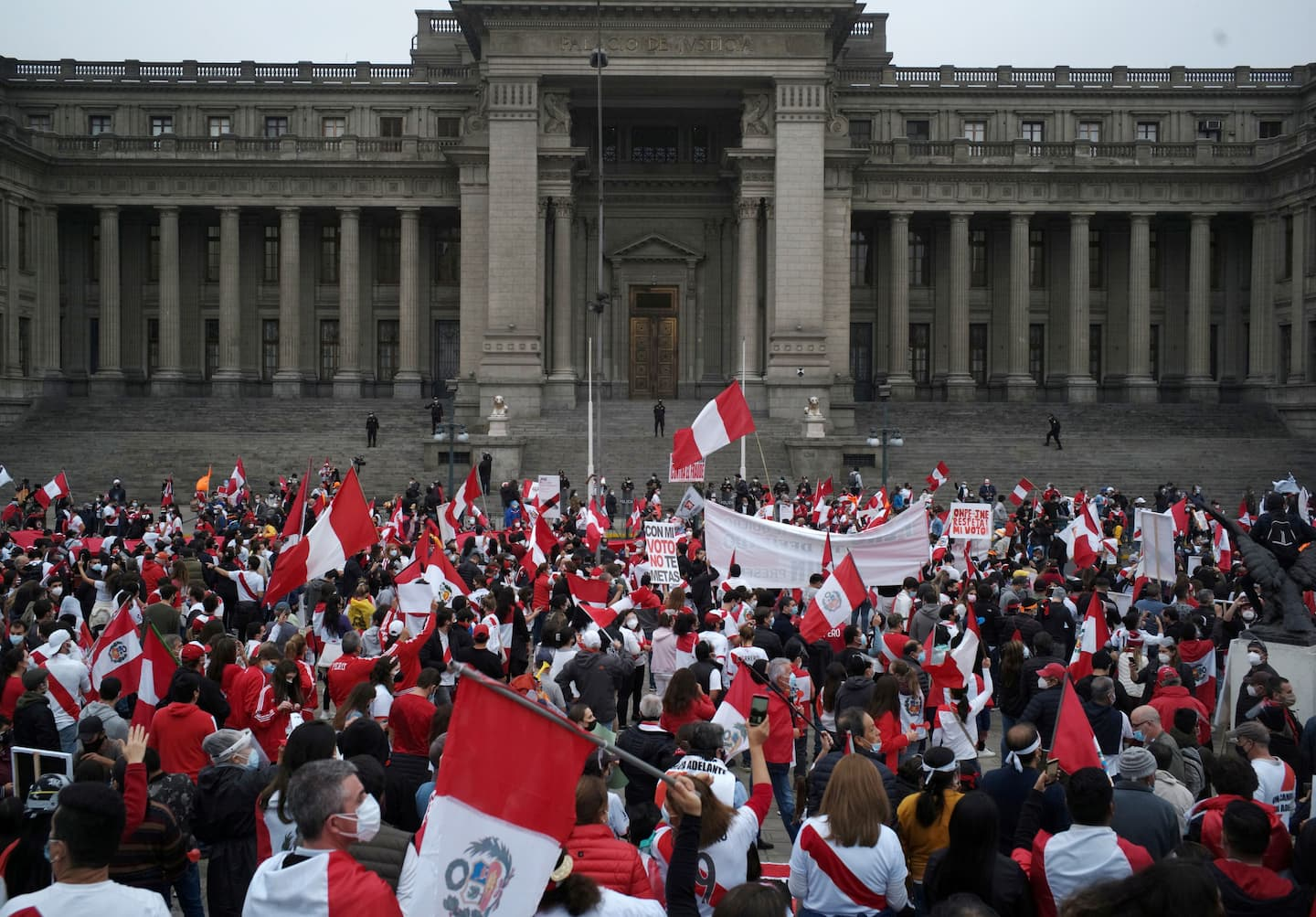 Peru's Keiko Fujimori, with election fraud claims, takes a page from the Trump playbook. She's not alone.