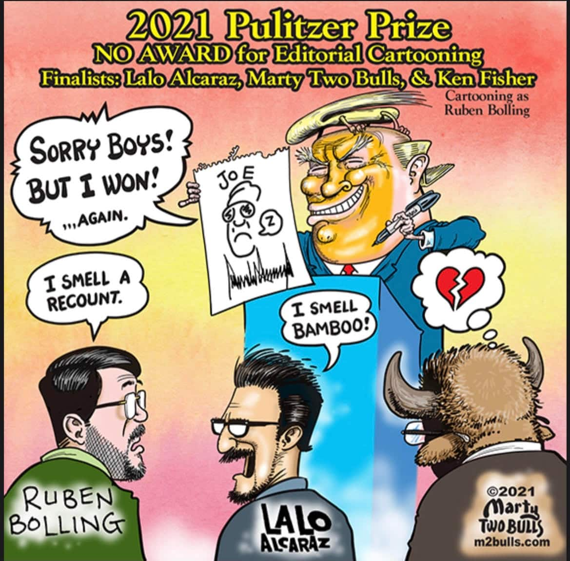 The Pulitzers did not pick a winner for cartooning this year. Artists feel 'mystified' and 'insulted.'